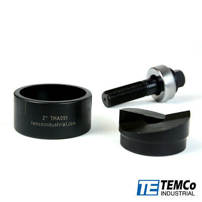 "TEMCo TH0396 - 2"" Conduit Hole Size Knockout Punch Unit with Manual Draw Stud"