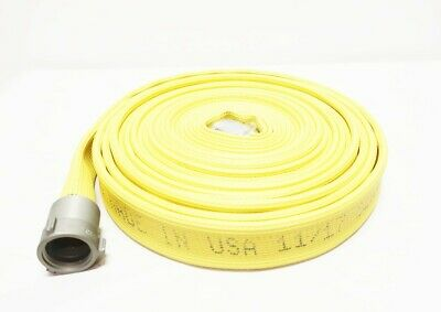 All-american Hose HFX15X50Y15N Yellow Nitrile Rubber 1-1/2in X 50ft Fire Hose