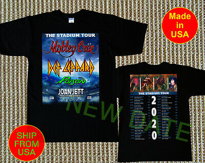 Motley Crue The Stadium Tour 2020 Tshirt Gildan Black Tee S - 3XL