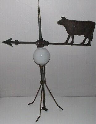 """Antique """"Cow Lightning Rod"""" York County,Pa Estate Find-Hollow Body-32"""" High"""