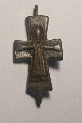 Medieval Byzantine  bronze cross  10th-12th century AD