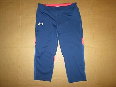 Girls UNDER ARMOUR HEAT GEAR fitted leggings pants YLG L LG running yoga