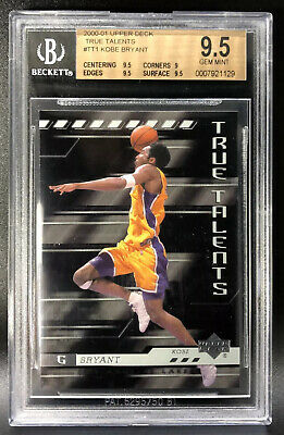 2000-01 Upper Deck Kobe Bryant True Talents BGS 9.5 Gem Mint Pop 1 Tough Grade