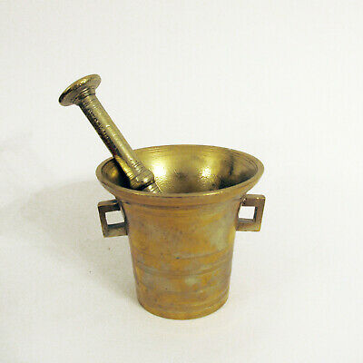 Antique Vintage Mortar And Pestle Apothecary Apotheker Mörser A.P. Bomark