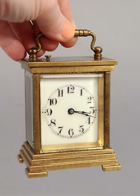Small 19thC Antique Waterbury Clock Co, Gilt Brass Repeater Carriage Clock, NR