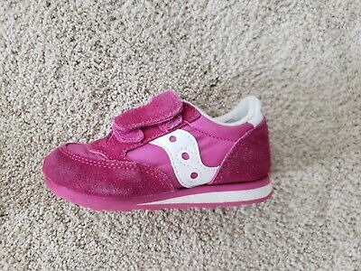 Saucony Toddler Girl's Size 7M Baby Jazz Tennis Shoes Low Pro Fuschia Pink