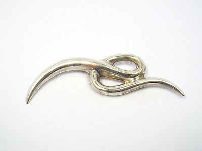 Vintage Taxco Mexico Argent Sterling Moderniste Grand Broche