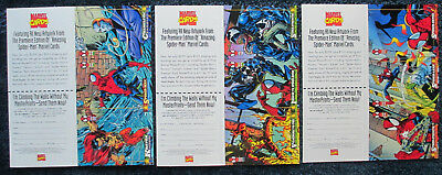 3 RARE PROMO CARDS: 1994 Fleer AMAZING SPIDER-MAN Marvel Cards UNCUT CARDS