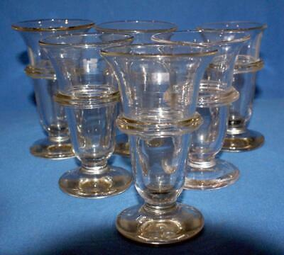 Set of Six Antique 19C Sweetmeat Jelly  Bowl Glasses