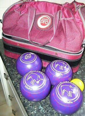 AERO TURBO PRO Lawn Bowls- SIze 3.5 with Jack and Comfit Pro Bag- Date 27