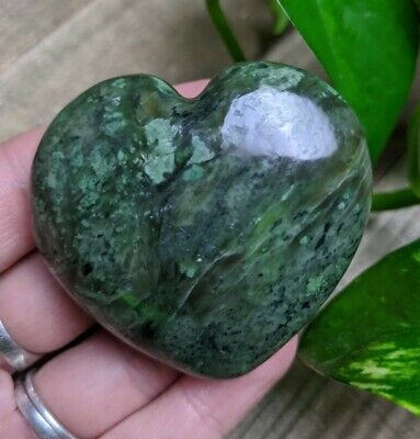 """2"""" DIOPSIDE Puffy Heart G11 Crystal Stone Reiki Charged Healing 3.9oz"""