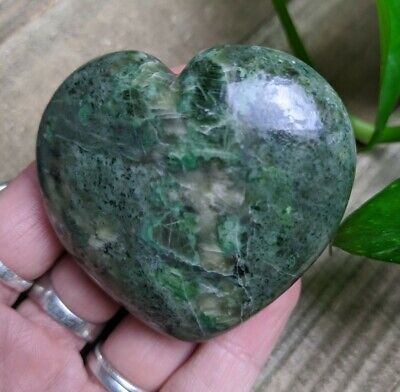 """2.2"""" DIOPSIDE Puffy Heart G9 Crystal Stone Reiki Charged Healing 5oz"""