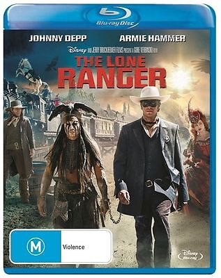 The Lone Ranger -Johnny Depp - Armie Hammer - Blu Ray  - Not Sealed
