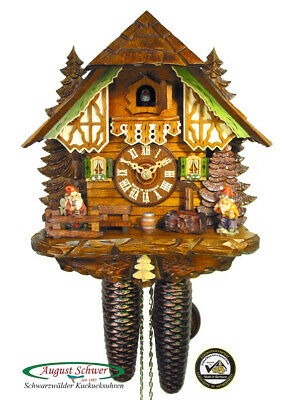 Cuckoo Clock Black Forest The Garden Gnome Clock 8-Day Movement by August Schwer