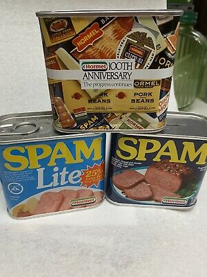 Lot Of Three Hormel Spam Tin Banks-Spam, Spam Lite, 100 Anniversary