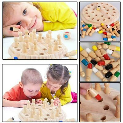 Wooden Memory Match Stick Chess Game Children Kids Puzzle Educational Toys QP