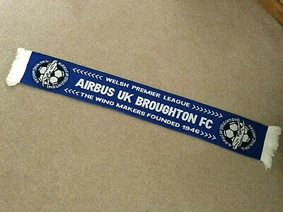 RARE AIRBUS UK BROUGHTON FC Football Scarf [The Wing Makers Welsh Premier League
