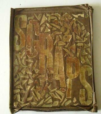 Victorian Linen Scrap Book. Mostly die cut relief scraps, also cards & cut outs