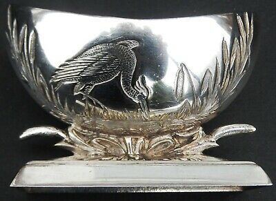 Fine Quality Victorian Aesthetic Silver Plated Salt Cellar.  c1880