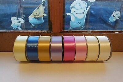 """4 X Florist Poly Ribbon 100 Yards 2"""" Assorted Colours """"Free Uk Postage"""""""