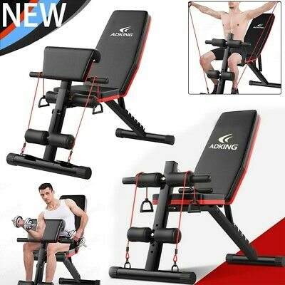 Adjustable Sit up Bench AB Flat Incline Decline TrainingCrunch Board Exercise