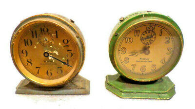 2 Baby Ben Alarm Clocks By Westclox For Parts/Restoration