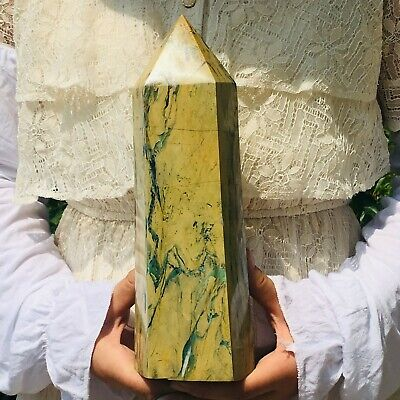 5.5LB Natural phoenix stone crystal obelisk quartz rod point healing MZQ569