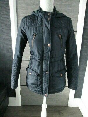 Girls New Look 915 Navy Blue Padded Jacket Age 10-11 Yrs Vgc