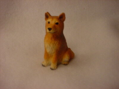 FINNISH SPITZ dog HAND PAINTED FIGURINE Resin MINIATURE Small Mini COLLECTIBLE