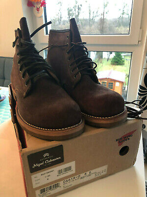 Limited Edition Red Wing x Nigel Cabourn Munson Boots 4618 Harris Tweed NEW US8D