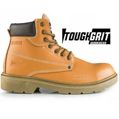 Mens Leather Lightweight Steel Toe Cap Safety Work Boots Hiker Trainers Shoes
