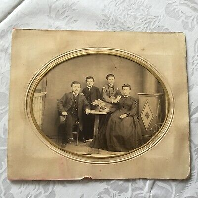 1869 CABINET  PHOTO of family found in ONTARIO ,CANADA