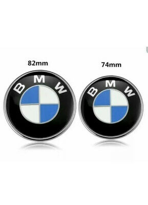 82mm & 74mm BMW Front Back Bonnet/Boot Badge Set - Blue White TODAY ONLY 8.99