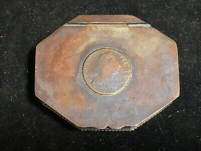 Antique Late 18th/Early 19th Century English Copper George III Snuff Box