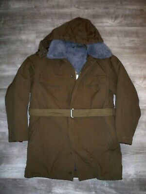 Vtg OTAVAN Czech Trebon Military Trench Parka Coat Army Fleece 180-10 M / Medium