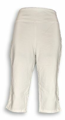 Women with Control Women's Pants Sz L Wicked Pedal Pusher White A352750