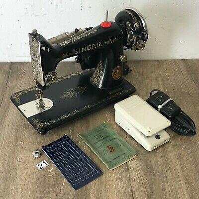 1927 Singer 99 13 Sewing Machine 3/4 Electric Heavy duty Serviced Works Perfect
