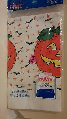 """Vintage 1992 Party Creation Paper Tablecover 54""""X96"""" Halloween Fall  Made in USA"""