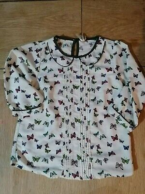 Next girls blouse butterfly 11 years