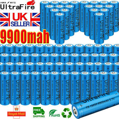 UltraFire 18650 Battery 3.7V 9900mAh Rechargeable Li-ion Lithium Cell Button Top