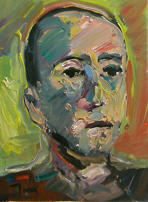 JOSE TRUJILLO - Portrait Impressionism Abstract ORIGINAL Fine Art - COLLECTIBLE