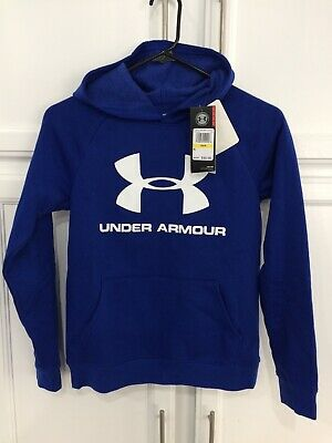 Boys Under Armour Cold Gear Hoodie Sweatshirt Youth Size: Medium Blue NWT