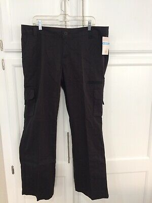 Dickies Womens Pants Black Size 16R Cargo Relaxed Fit Straight Leg