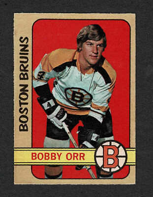 1972-73 OPeeChee #129, Boston Bruins' Bobby Orr, Nr-Mint to Mint