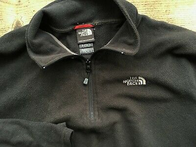 The North Face Mens Xl Large 44-46 Black Half Zip Fleece Jumper Sweatshirt