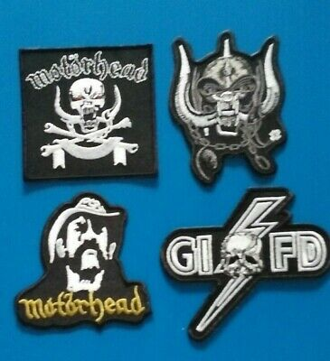 4 LOT Embroidered Easy Sew/Iron On MOTORHEAD Patches W/FREE SHIPPING