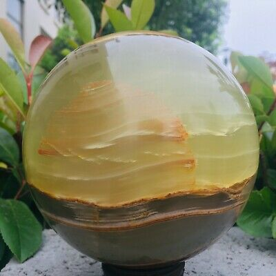 7.2LB Natural Afghan jasper magic energy crystal ball acupoint therapy MZQ372