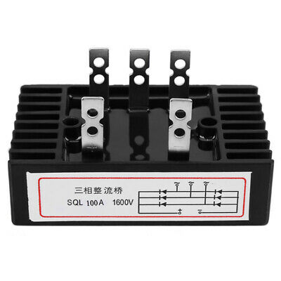UK Replacement Bridge Rectifier Module Three Phase Diode AC to DC 1600V 100A