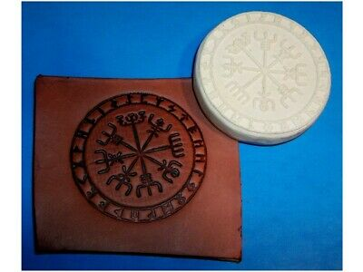 "Viking Compass Leather Emboss Plate 2 7/8"" Diameter"