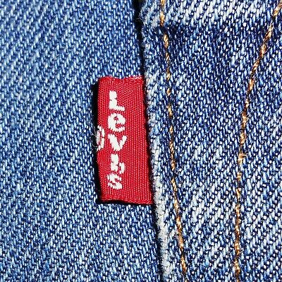 38x32 Levi Strauss 501 Button Fly Blue Jeans 100% Cotton Men's Denim Red Tab